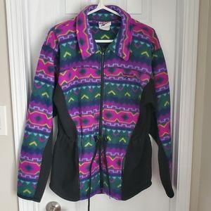 Vintage Reebok GUC Colourful Fleece Jacket